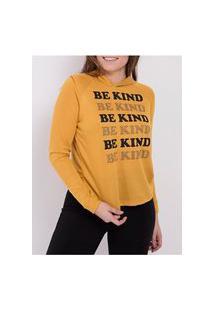 Blusa Moletinho Com Capuz Feminina Amarelo