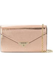 Michael Michael Kors Grace Clutch Bag - Metálico