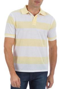 5141ae169f ... Camisa Polo Masculina Amarela Listrada