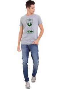 Camiseta Masculina Joss Time Kills Verde Cinza