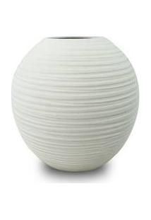 Vaso Decorativo Nakine Cerâmica Branco 17X18X18