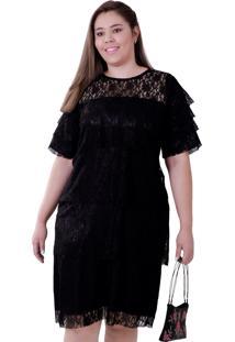 Vestido Vickttoria Vick Renda Divine Plus Size