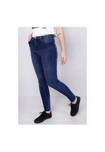 Calça Jeans Barra A Fio Blue Escura Gang Feminina