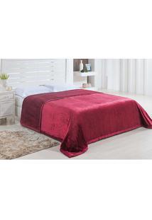 Cobertor Casal Dublin 1,80X2,20M - Niazitex Vinho