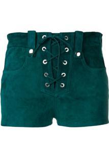 Manokhi Short Com Renda Frontal - Verde