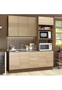 Cozinha Compacta 8 Portas Stella Florença Grte1900019S Saara/Crema - Madesa