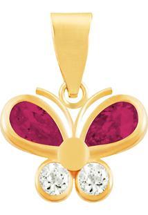Pingente Borboleta Ouro 18K Vj5768