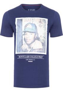 Camiseta Masculina School Life - Azul