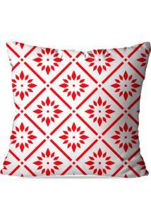Capa De Almofada Geometric Red 45X45Cm