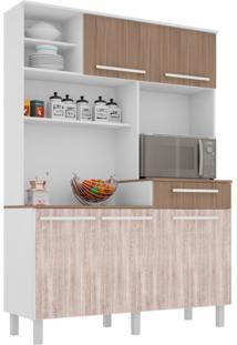 Cozinha Compacta Safira 5 Pt 1 Gv Branco E Carvalho