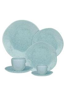 Aparelho De Jantar Chá E Café 42 Peças Ryo Blue Bay Azul
