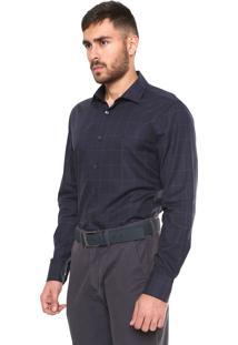 Camisa Vr Urban Fit Padronagem Azul-Marinho