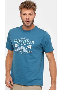 Camiseta Quiksilver Básica Boarding Masculina - Masculino