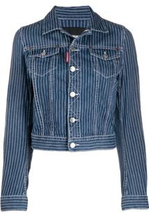 Dsquared2 Pinstripe Denim Jacket - Azul