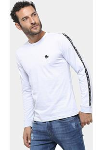 Camiseta Manga Longa Polo Rg 518 Maquinetada Masculina - Masculino-Branco