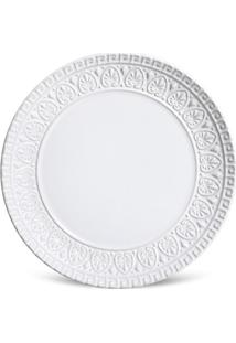 Prato Sobremesa Greek Cerâmica 6 Peças Branco Porto Brasil