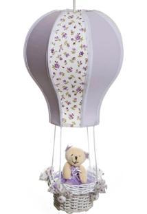 Lustre Balão Cintura Ursa Quarto Bebê Infantil Menina Potinho De Mel Lilás