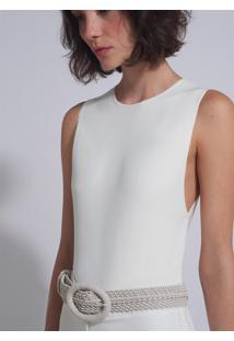 Cinto Le Lis Blanc Marcela Off White Feminino (Off White, G)