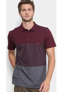 Camisa Polo Reserva Piquet Color Boradado Logo Masculina - Masculino