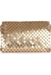 Bolsa Transversal Lara Metalizada Dourado