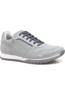 Sapatênis Zariff Shoes Casual Couro - Masculino-Cinza