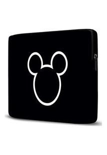 Capa Para Notebook Mickey 15 Polegadas Com Bolso Preto
