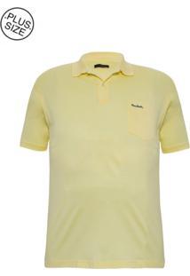 Polo Plus Size Fio De Escócia Amarela