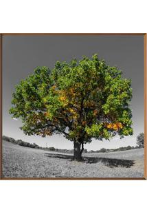 Quadro Decorativo ÁRvore- Marrom Claro & Verde- 80X8Arte Prã³Pria