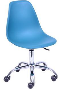 Cadeira Eames Dkr- Azul Petrã³Leo & Prateada- 93X47X4Or Design