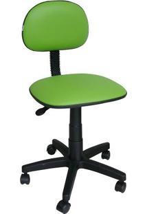 Cadeira Giratória Secretária Ibiza Corano Verde