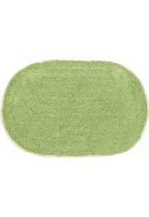 Tapete Para Banheiro Le Oval Verde 40X60Cm