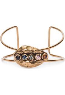 Bracelete Feminino Búzios Cristais - Dourado