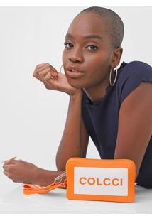 Clutch Colcci Logo Laranja