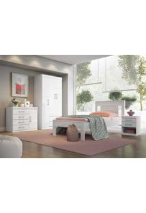 Dormitório Solteiro Star Branco/Fúcsia Santos Andirá - Tricae