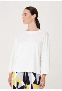 Blusa Feminina Com Manga Bufante Branco