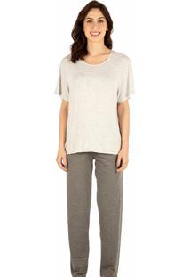 Pijama Longo Homewear Mescla - 589.074 Marcyn Lingerie Pijamas Multicolorido