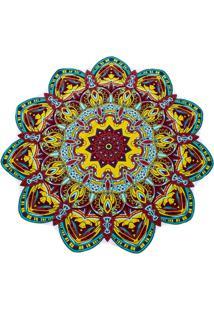 Canga Artestore Redonda Mandala Saída De Praia, Yoga Ou Decoração Multicolorida