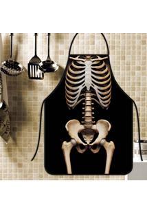 Avental Personalizado Tecido Microfibra Estampada - Esqueleto