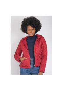 Jaqueta Queens Paris Matelassê Vermelha