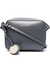 Emporio Armani Logo-Charm Cross Body Bag - Cinza
