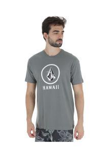 Camiseta Volcom Crisp Hi - Masculina - Cinza Claro
