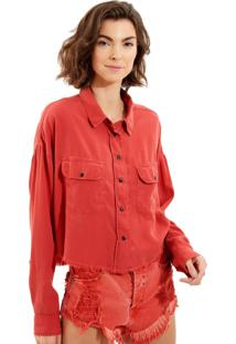 Camisa John John Izzie Red Vermelho Feminina (Vermelho Medio, P)