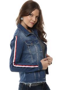 Jaqueta Jeans Sawary Azul