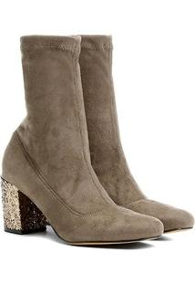 Bota Shoestock Média Glitter - Feminino