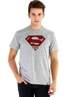 Camiseta Ouroboros Manga Curta Super Pai - Masculino-Cinza