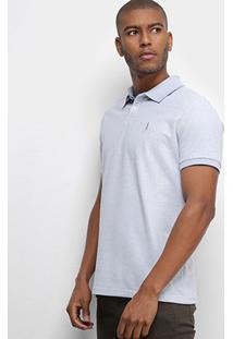 Camisa Polo Aleatory Basic Color Masculina - Masculino-Azul Claro