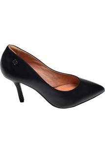 Sapato Feminino Scarpin Multi Luz Da Lua Preto