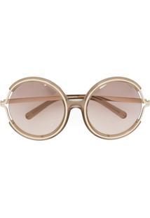 6d97a59b6225a ... Chloé Eyewear Óculos De Sol  Jayme  Com Armação Redonda - Neutro