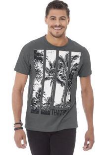 Camiseta Masculina Cinza