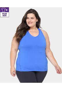 Regata Plus Size Gonew Feminina - Feminino-Azul